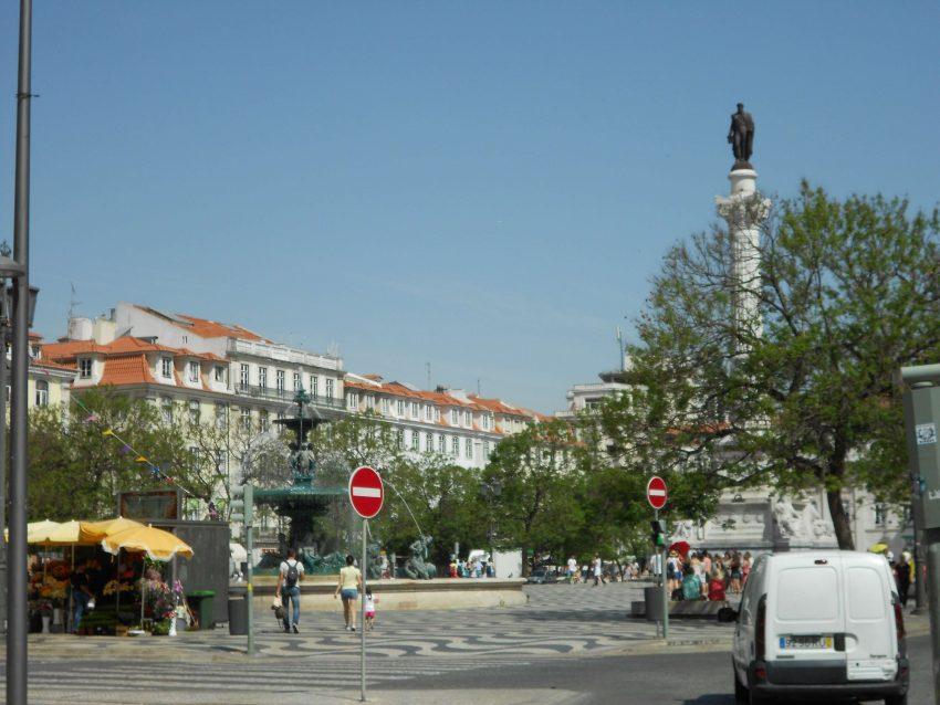 vlakbij metrostation Rossio Lissabon